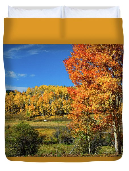 Fall In The Elks Duvet Cover