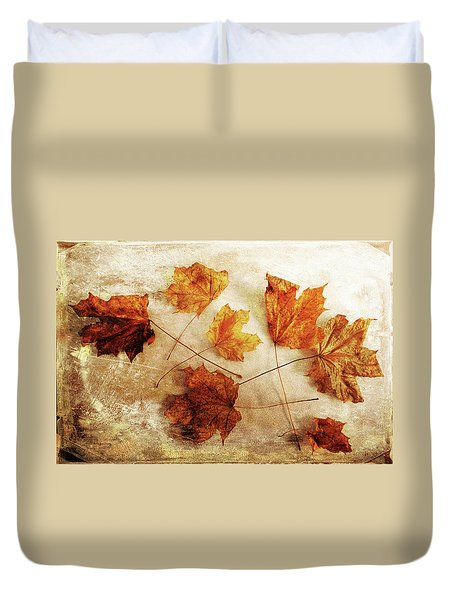 Duvet Cover featuring the photograph Fall Keepers by Randi Grace Nilsberg