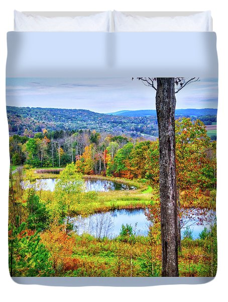 Duvet Cover featuring the photograph Fall Memories At The Ponds by Lynn Bauer