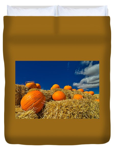 Fall Pumpkins Duvet Cover