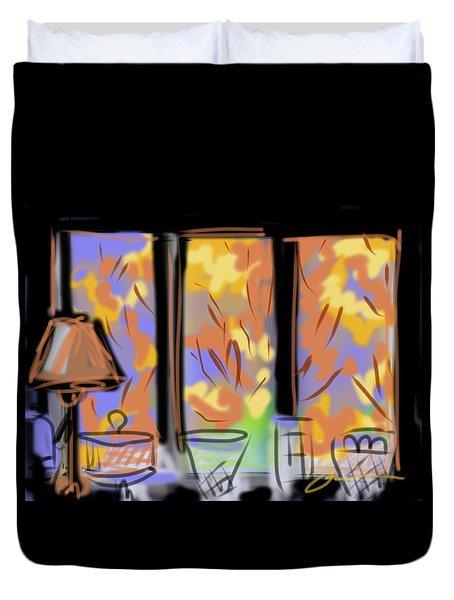 Fall Windows Duvet Cover