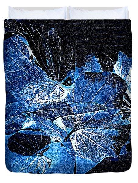 Fallen Leaves At Midnight Duvet Cover