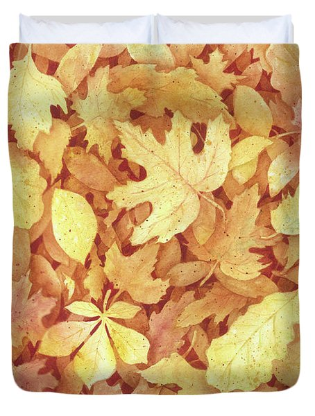 Fallen Leaves Duvet Cover