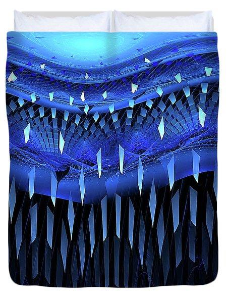 Falling Blue Duvet Cover