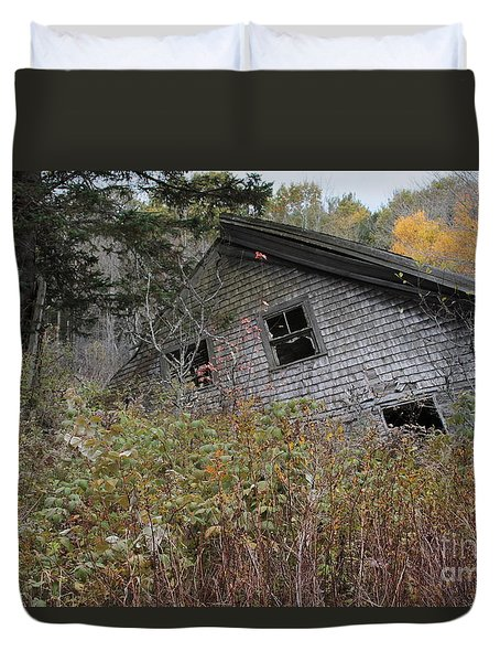 Falling To The Ground Duvet Cover