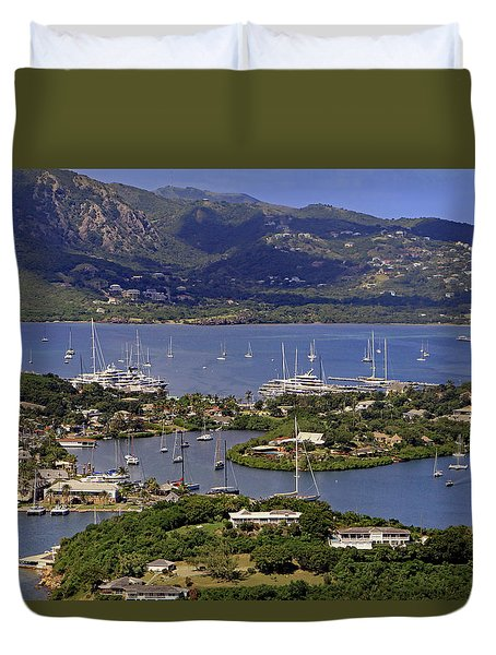 Duvet Cover featuring the photograph Falmouth Harbour by Tony Murtagh