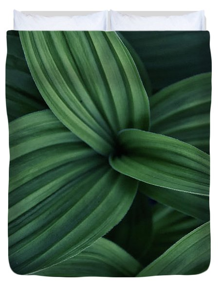 False Hellebore Plant Abstract Duvet Cover