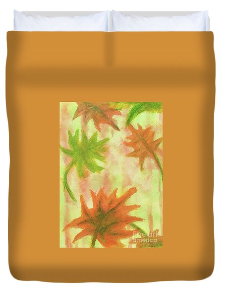 Fanciful Fall Leaves Duvet Cover