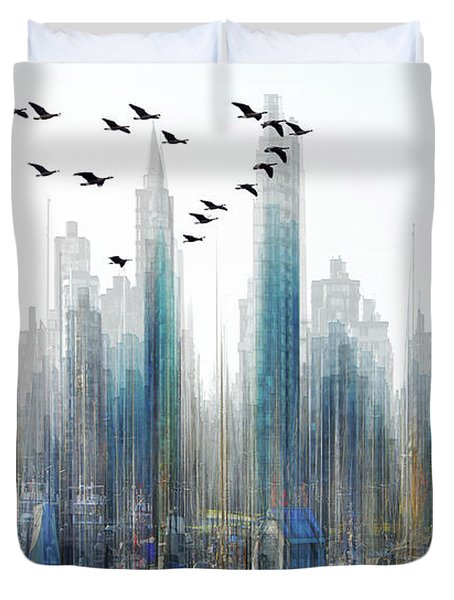 Fantasy City Duvet Cover