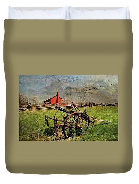 Farming In The 1880s Duvet Cover