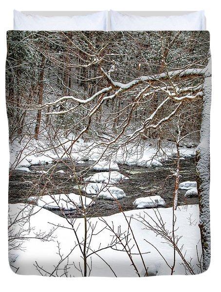 Farmington River - Northern Section Duvet Cover
