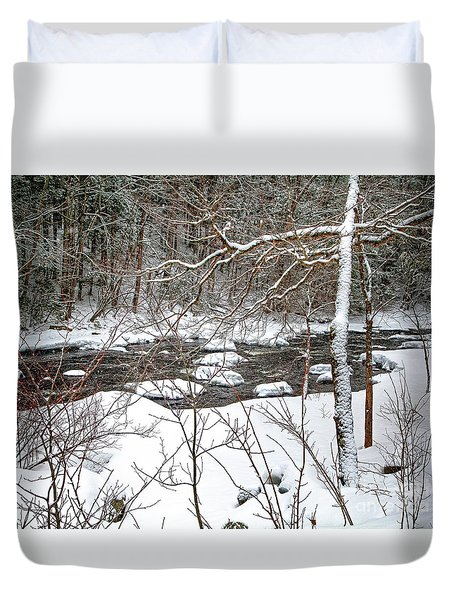 Farmington River - Northern Section Duvet Cover