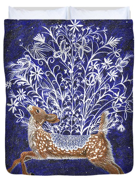 Fawn Bouquet Duvet Cover