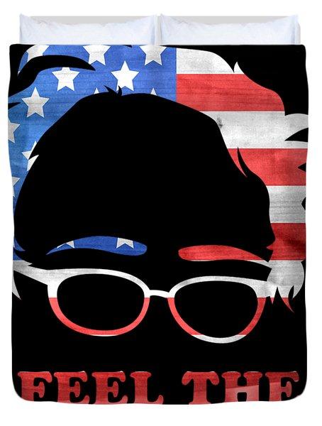 Feel The Bern Patriotic Duvet Cover