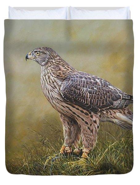 Female Goshawk Paintings Duvet Cover
