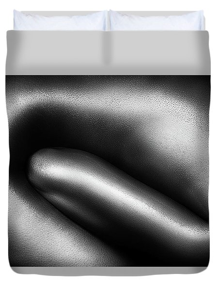 Female Nude Silver Oil Close-up 3 Duvet Cover