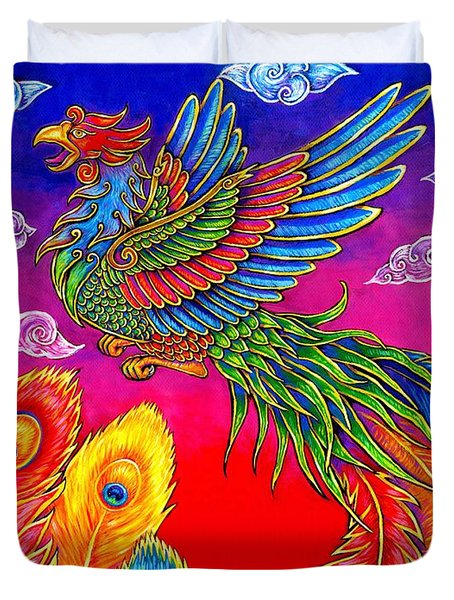 Fenghuang Chinese Phoenix Duvet Cover