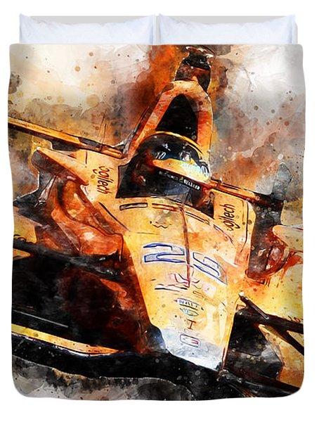 Fernando Alonso, Indy 500 - 04 Duvet Cover