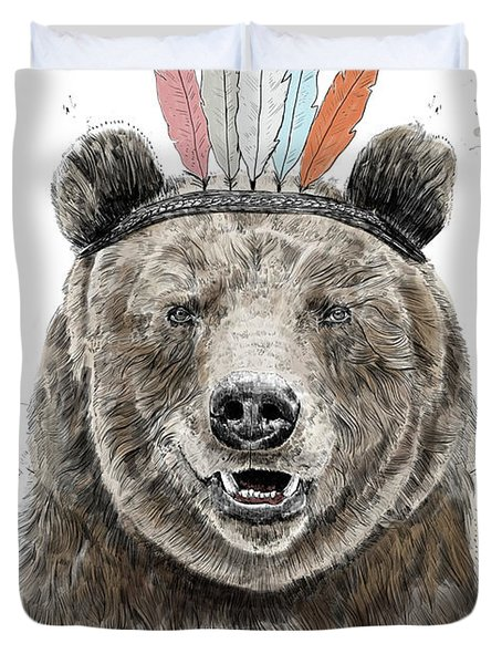 Festival Bear Duvet Cover