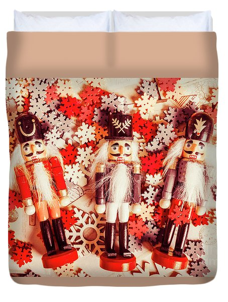 Festive Forces Duvet Cover
