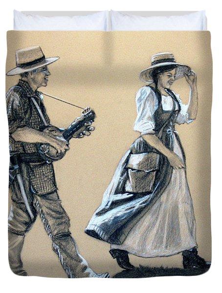 Fiddler's Daughter Duvet Cover