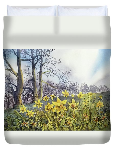 Field Of Hope At Burton Agnes Duvet Cover