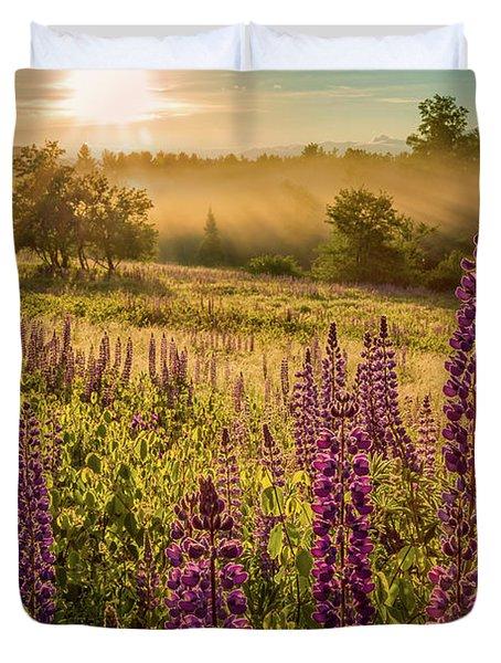 Fields Of Lupine Duvet Cover
