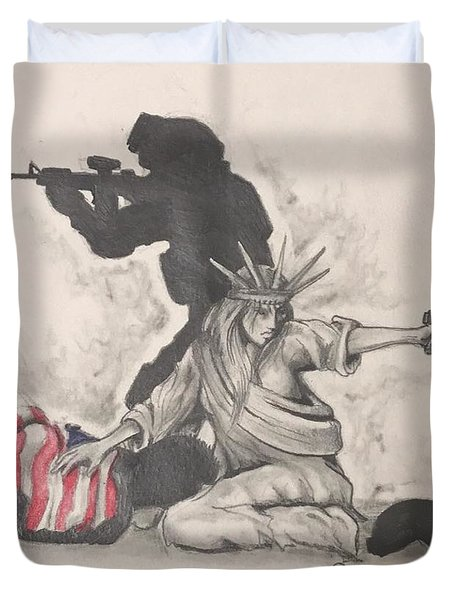 Fighting For Liberty  Duvet Cover