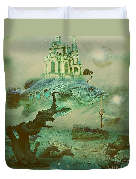 Duvet Cover featuring the digital art Finding Captain Nemo by Alexa Szlavics