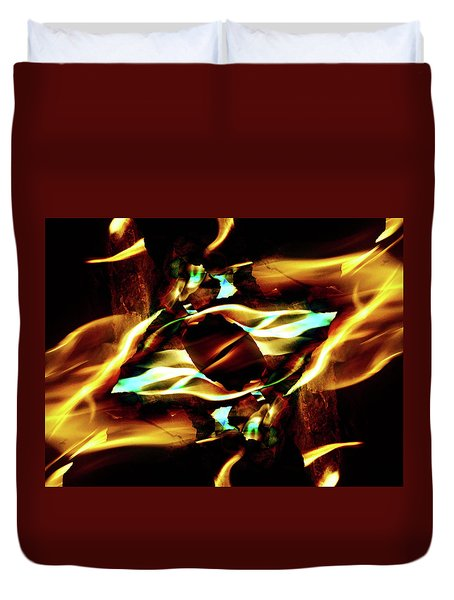 Fire Eye Duvet Cover