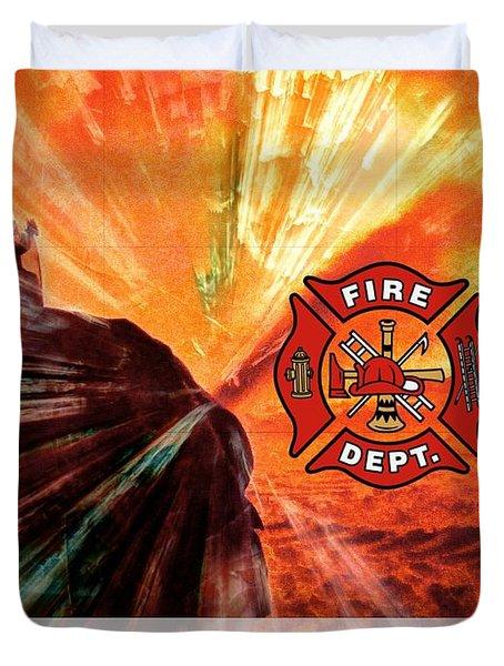 Fire Fighting 1 Duvet Cover