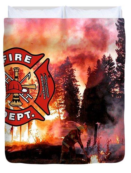 Fire Fighting 3 Duvet Cover