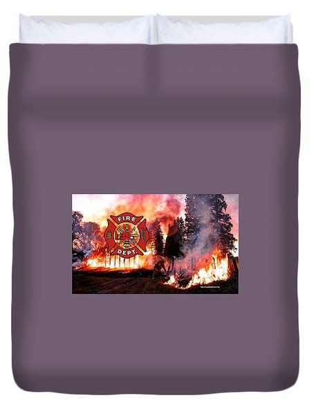 Fire Fighting 3 Duvet Cover