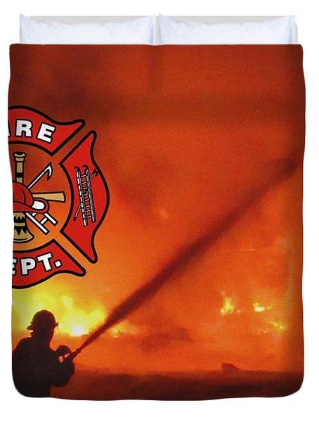 Fire Fighting 5 Duvet Cover