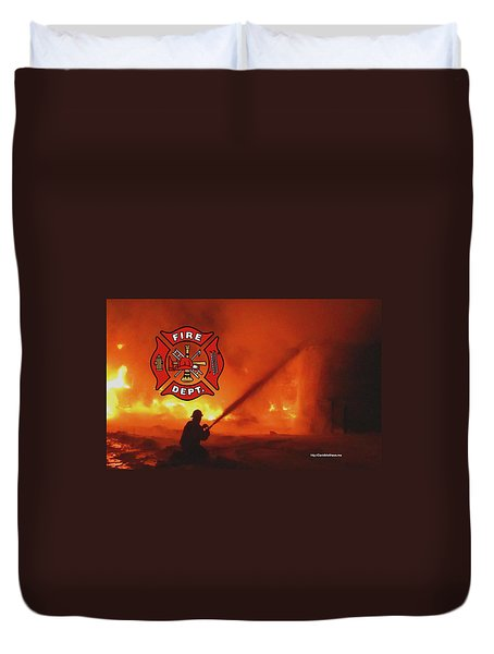 Fire Fighting 5 Duvet Cover