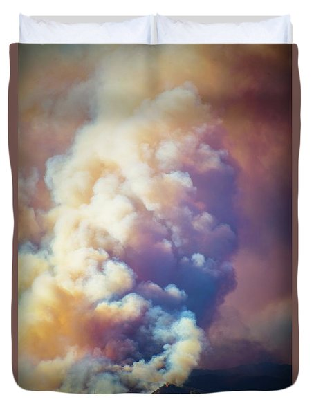 Duvet Cover featuring the photograph Fire Power by Lynn Bauer