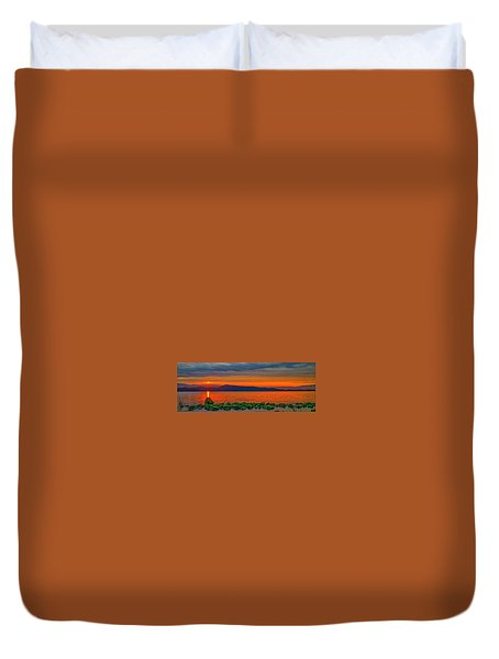 Fire Rock Duvet Cover