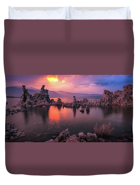 Duvet Cover featuring the photograph Fireball by Edgars Erglis