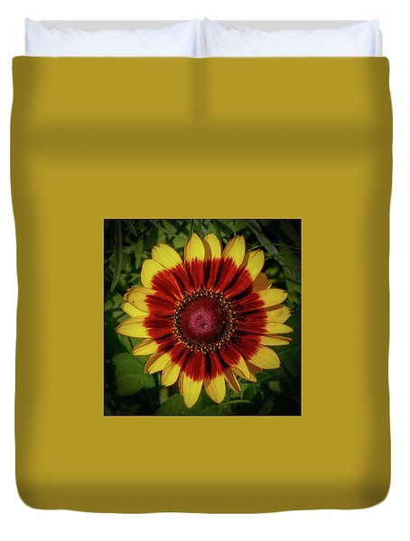 Duvet Cover featuring the photograph Firewheel by Lora J Wilson