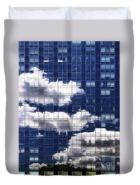 Duvet Cover featuring the photograph First Avenue Reflections by Rick Locke