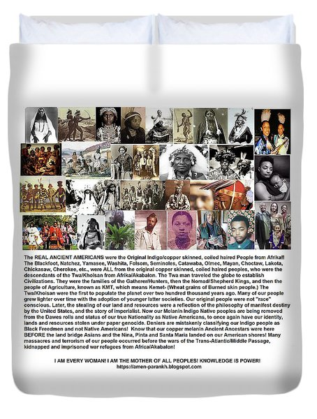 First Native Americans Were Indigo Twa Black Afrikans Duvet Cover