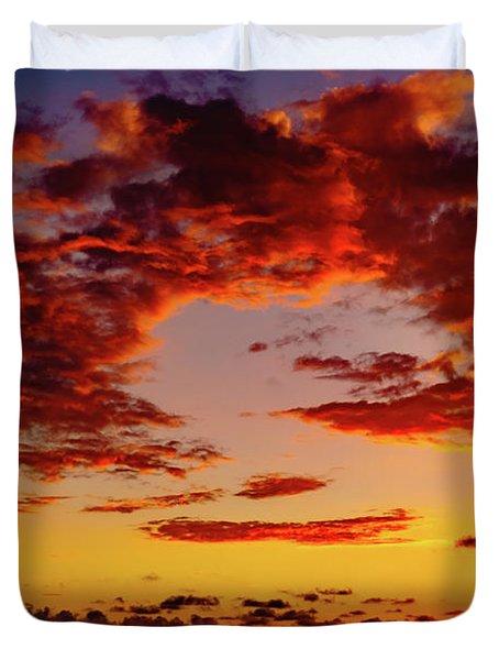 First November Sunset Duvet Cover