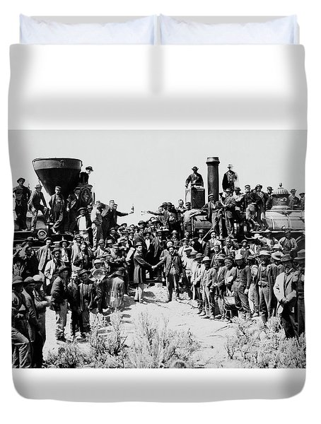 First Opening Of The Transcontinental Railroad - 1869 Duvet Cover