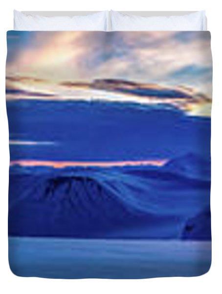 First Sun After Polar Night Duvet Cover