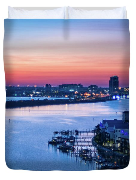 Firstlight Over Clearwater Duvet Cover