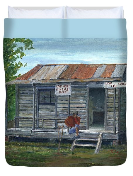 Fish Store, Natchitoches Parish, Louisiana Duvet Cover