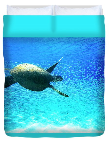 Fish Swoop Duvet Cover