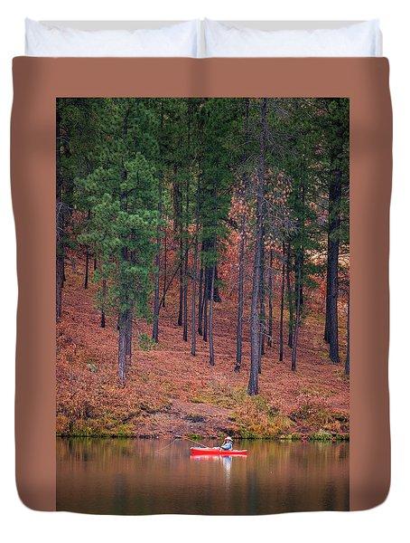 Fishing Fenton Lake Duvet Cover