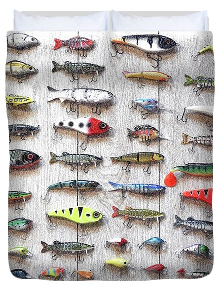Fishing Lures - Dwp2669219 Duvet Cover