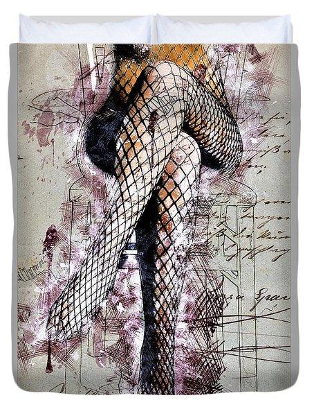 Fishnet Tights Duvet Cover